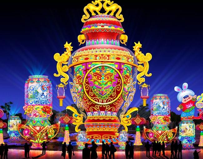 景区灯会传统彩灯设计